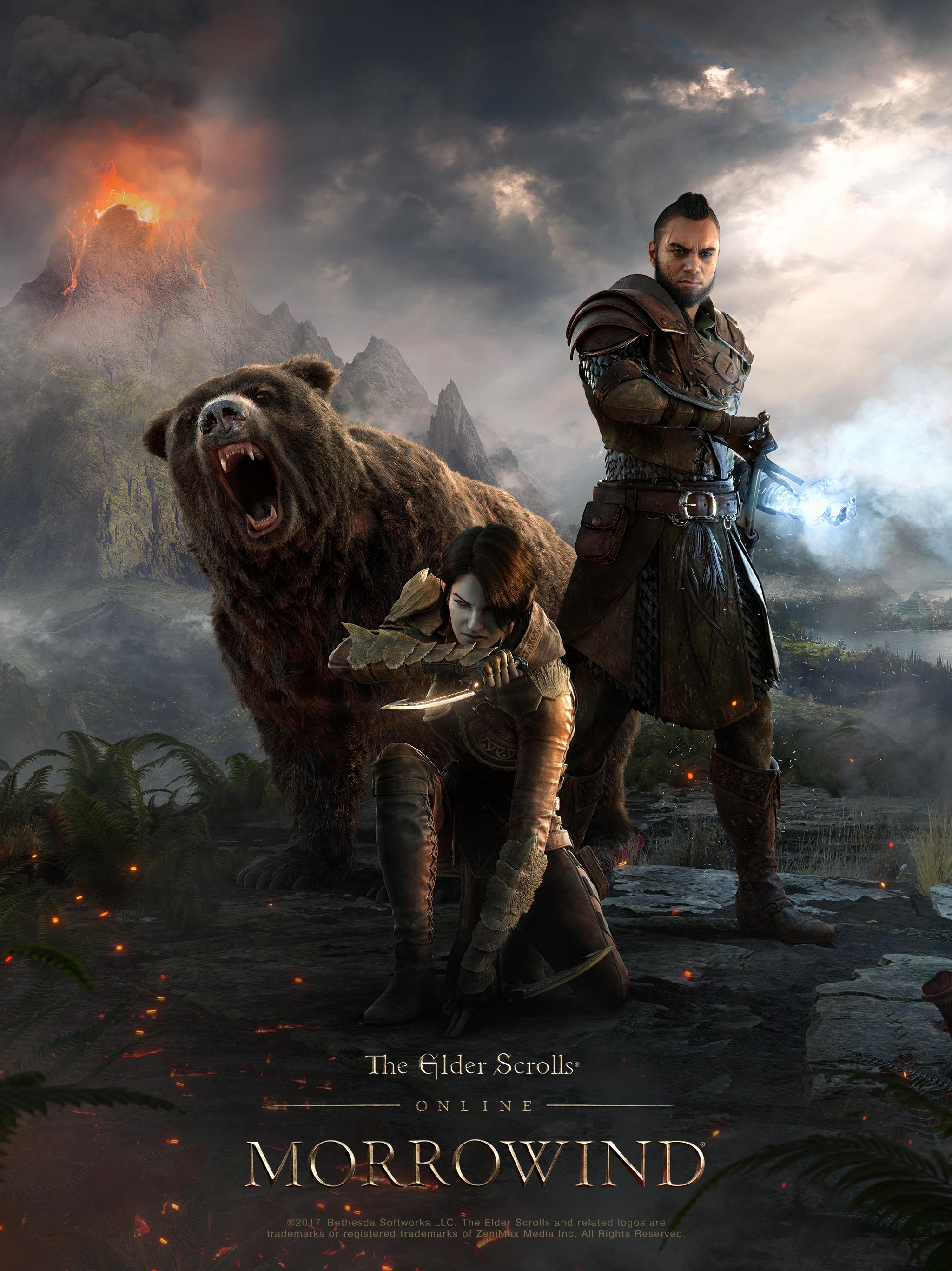 Download The New Eso Morrowind Hero Art Wallpaper The Elder